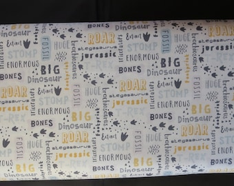 Fossil Rim Fabric - Deena Rutter For Riley Blake - C6611 - FOSSIL WORDS CREAM