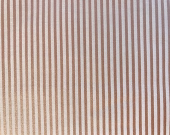 Small Stripe Rose Gold Sparkle Fabric -Riley Blake SC545