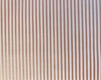 Small Stripe Rose Gold Sparkle Fabric -Riley Blake SC545