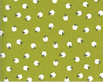 On The Farm - 20706 17 Moda - Bah Bah Baby Sheep Green By Stacy Iest Hsu