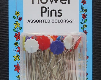 "Collins 50 Flat Flower Pins 2"""
