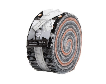 Midnight Magic Jelly Roll  by April Rosenthal of Prairie Grass for Moda - Halloween