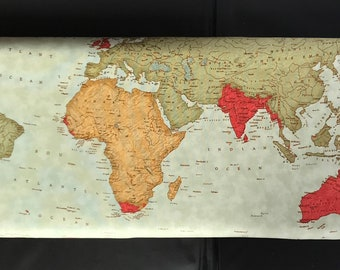 Moda's Passport Fabric -  Map Passport 3929 11