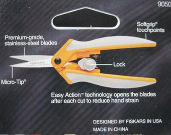Fiskars Micro-Tip Blade For Intricate Cuts - Easy Action Softgrip