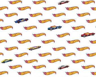 Riley Blake - Hot Wheels Logo White C9752 - Fabric