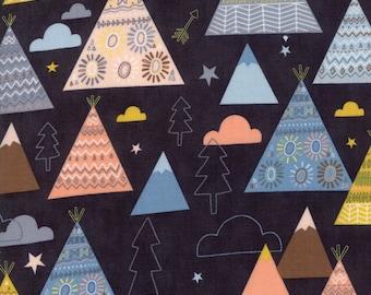 Wild & Free  - Abi Hall -  Novelty Teepees Trees Black - 3531212