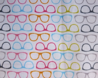 NOVELTY GLASSES MULTI - Riley Blake Designs  100% cotton, pattern C6070 Glasses - Out Of Print