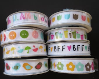8 Spools Of American Craft Ribbon