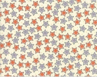 7.99 A Yard For One Week - Treehouse Club Tangerine Cloudy 5633 13 Moda - Sweetwater Novelty Starry Night