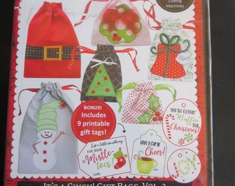 Kimberbell - It's A Cinch Gift Bags Vol. 2  - Christmas - In The Hoop Embroidery