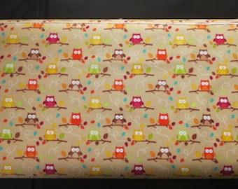 Riley Blake - Happy Harvest Friends Owl Fabric - Brown 7.99 A Yard - C4033 Brown