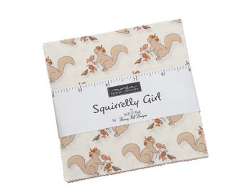 Squirrelly Girl by Bunny Hill Design For Moda - Charm Pack