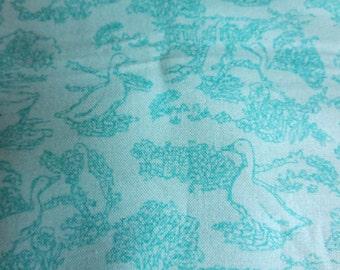Moda - Vanessa Goertzen Floral Toile Waddle Aqua Gooseberry Sky 5012 16