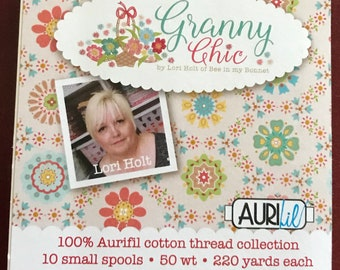Lori Holt Thread - Bee In My Bonnet Collection - Granny Chic Aurifil Thread Box