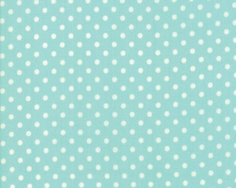 Little Snippets - Bonnie and Camille Fabric - 5518512 -   Dot Aqua