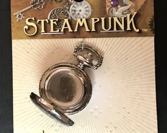 STEAMPUNK Metal Accents Small Pocket Watch Case - STEAM093
