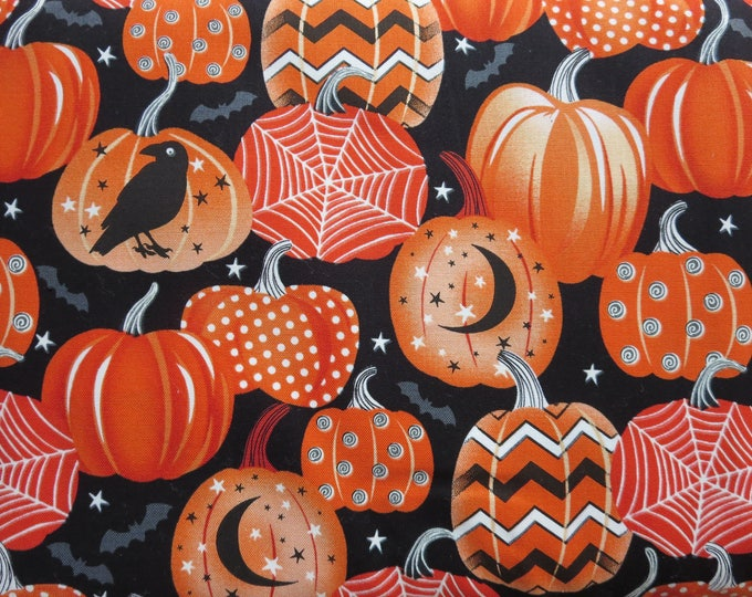 Featured listing image: Henry Glass - Fangtastic With Glow by First Blush Studio - Glow In The Dark Halloween Fabric - 1097G