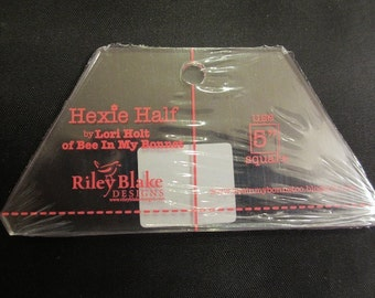Lori Holt Hexie Half Ruler 5 inch - Back In Stock