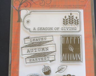 "AutumnLeaves -  Hero Arts Clear Stamps 4""X6"" - CL714"