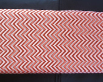Wrens Friends Tangerine Chevron - For Moda