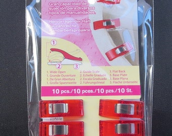 Clover Wonder Clips - 10 pack - More In Stock!