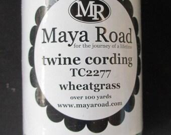 Maya Road Twine Cording - Wheatgrass 100 Yards