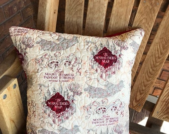 Themed Pillow Throw Cover - Marauders Map