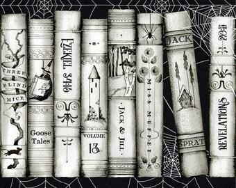 Goose Tales Book Spines Border Stripe - C9392