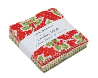 Fig Tree Fabric - Christmas Figs Mini Charm Pack - Only 16 Remaining