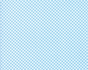 End of Bolt 15 Inches - Moda - Fig Tree Co  -Catalina Ocean 20375 13 Moda - Gingham
