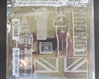 Tim Holtz Collection - Stampers Anonymous London Sights Set CMS158