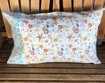 Pillowcase - Coastal Themed Pillowcase - Coastal Paradise - Shells