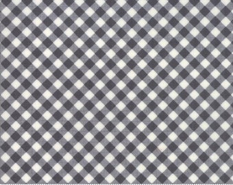 Little Snippets - Bonnie and Camille Fabric - 5518316 -   Little Bias Gingham Grey/ Charcoal 1/2 Yard End Of Bolt
