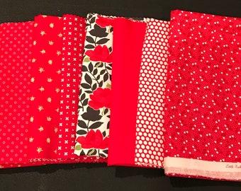 Bonnie And Camille  Half Yard Bundle - 8 Half Yard Bonnie and Camille Fabrics