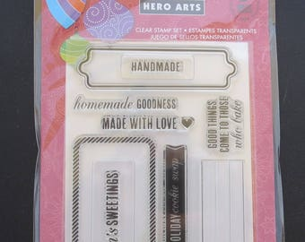"Hero Arts Clear Stamps 4""X6"" - CL8044 Season's Sweetings - Handmade Stamps"