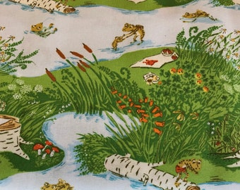 Heather Ross 20th Anniversary -  Windham  Fabrics 37022A-1 - Frogs