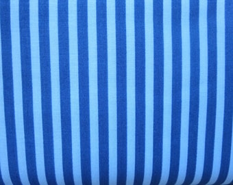 Riley Blake - C6354 - SHARKTOWN Blue Stripe Fabric - By Shawn Wallace - Two Tone Blue