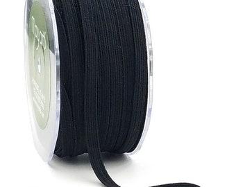 1/4 inch Black Elastic by The Spool - 25 Yards