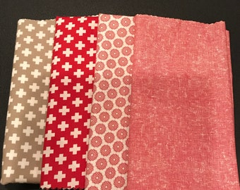 Moda -Sweetwater Project Red - Half Yard Set/Bundle
