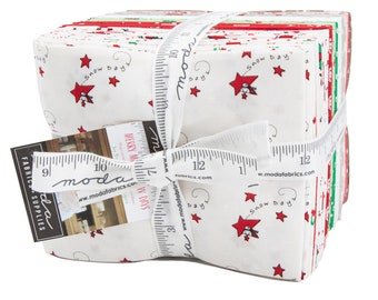 Moda - Merry Merry Snow Days Fat Quarter Bundle by Bunny Hill Designs - 2940AB - 32 Cuts - Free Shipping For One Week