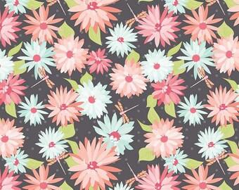 Sue Daley - Paper Daisies  For Riley Blake -  Main Gray - C8880