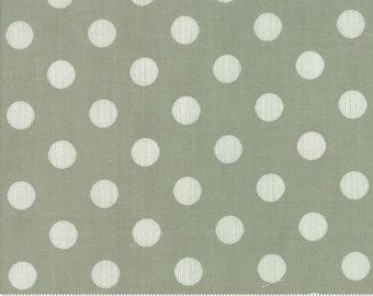End of Bolt 1.5 Yards - Harvest Road Modern Dot Chestnut  5103-13 by Lella Boutique for Moda Fabrics - 5103-14 Sage Dot