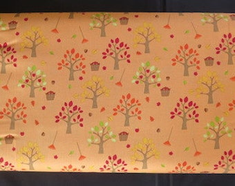 Riley Blake - Happy Harvest Friends Fabric - Orchard Orange
