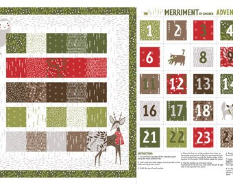 Merriment -  Panel Multi-color by Gingiber for Moda, 48272 11