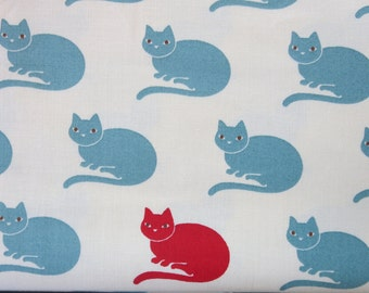 Neco Lucky Neco Ivory Sky 16133 12 - Cat Fabric