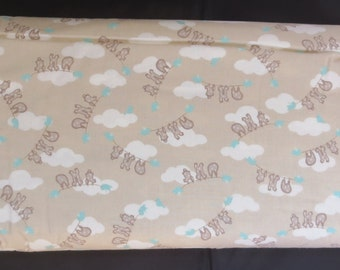 Moda Story Book Stone 13113 14  -Kate Birdie Childrens Clothesline Tan - Sale Fabric