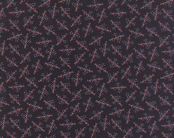 Moda -First Crush Fabric - 560014 - Sweetwater Seasonal Valentines Tic Tac Toe Black