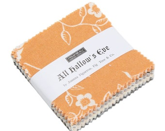 Fig Tree Fabric -All Hallow's Eve Mini Charm Pack 2.5 Inch Square