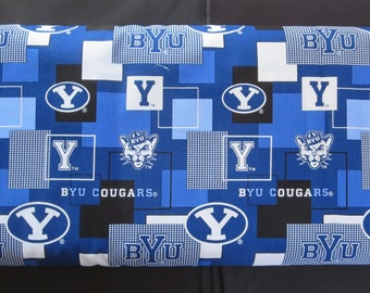 BYU College Prints -  BYU 1115 - Cougars - Out Of Print Fabric