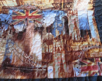 Homemade British- London Table Runner